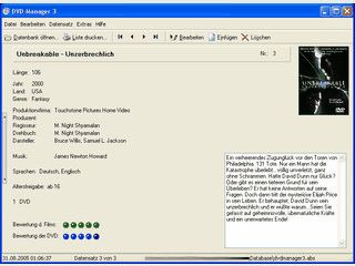 Verwaltung für Filme auf verschiedenen Medien. Mit Export und Webbrowser.