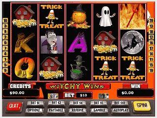 Moderne Slotmachine mit Halloween Symbolen