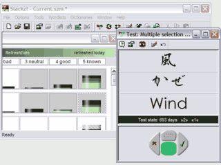 Vokabeln lernen mit dem Karteikasten-System. Unterstützt asiatische Schriftzeich