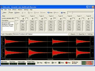 Mehrspur-Audiorecorder, Mixer und Audioeditor