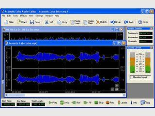 Audioeditor für WAV, MP3, WMA, OGG und PCM Dateien