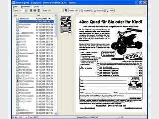 Faxalarm meldet und druckt neue Fritz!Fax-Faxe innerhalb des lokalen Netzwerks.