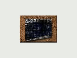 ASCII Art Bildschirmschoner. Bilder die aus Zeichen und Zahlen bestehen