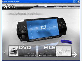 Pocket Video Maker bringt Filme von DVD oder Festplatte auf die Sony PSP.