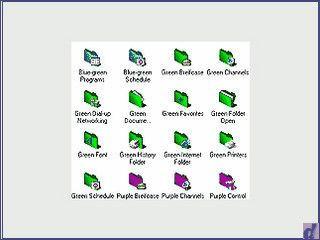 Eine Sammlung mit  fast 100 gelungenen 3D Ordner Icons.