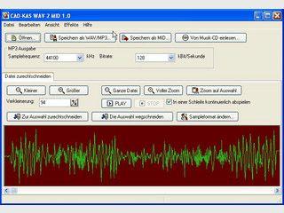 WAV- und MP3 Dateien in MIDI Dateien umwandeln.