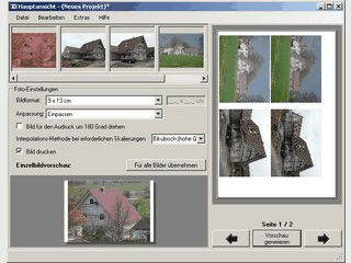 Platzsparendes Drucken von digitalen Fotos.