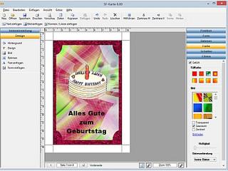 Gestalten und Drucken von Glückwunschkarten, Urkunden usw.