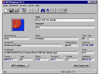 MP3Playbase, eine Datenbank zur Verwaltung für MP3