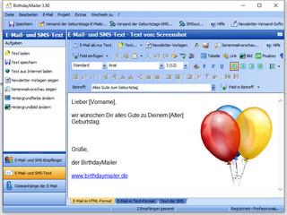 Mit BirthdayMailer k�nnen automatisch Geburtstags-E-Mails versendet werden.