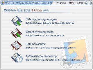Bequeme und einfache Sicherung aller wichtigen Thunderbird Daten