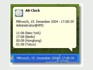 Erweiterte Uhr für die Windows Taskleiste mit Datum, Kalender und Systemmonitor.