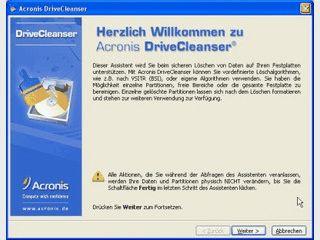 Vollständige und sichere Beseitung von Dateien auf ganzen Partitionen und HDDs