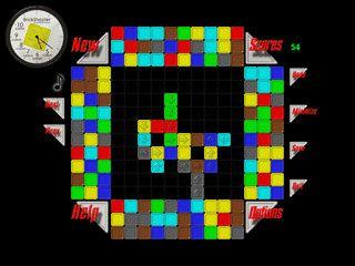 Kombinationsspiel bei dem Sie farbige Steine zusammenbringen müssen.