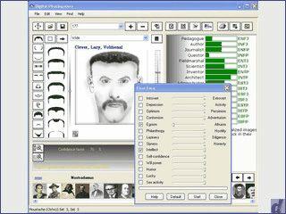 Untersucht Gesichter auf Bildern und versucht Vergleiche der Persönlichkeit