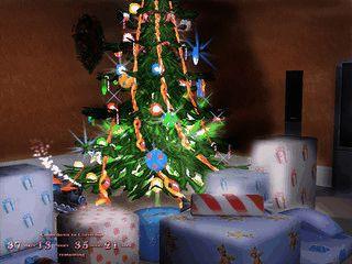 Weihnachtliche Kaminszene mit realistischen Feuer