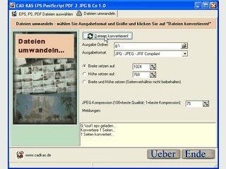 Konvertiert EPS, PostScript und PDF Dateien in Bilddateien