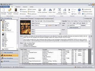Verwaltung Ihrer Audio- und Videodaten sowie Cover und DVD-Archiv.