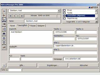 Adressverwaltung innerhalb von MS Word