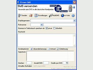 SMS direkt vom PC versenden. Nur eine Internetverbindung notwendig.