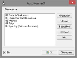 Automatischer Start von Anwendungen beim anstöpseln von USB-Datenträgern.