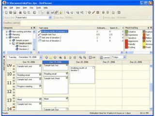 Software für Aufgabenlisten und Tagesplanung, beinhaltet zeitliche Ablaufverfolg