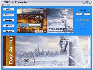 Einfache Software zum Ausdrucken von DVD Covern.