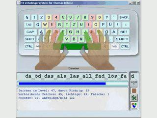 Zehnfingersystem an der PC Tastatur üben