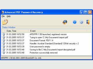 Soll das Passwort einer geschützten PDF Datei entschlüsseln.