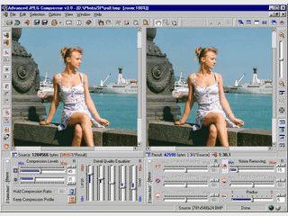 Viele Optionen zur Komprimierung von JPG und BMP Dateien.