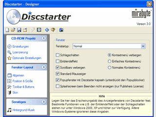 Discstarter ermöglicht die Erstellung professioneller CD-Menüs auf HTML-Basis.