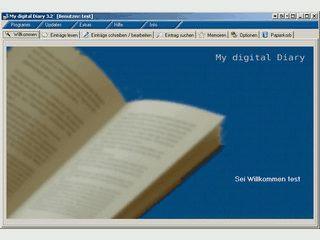Einfach zu bedienendes digitals Tagebuch mit vielen Funktionen.