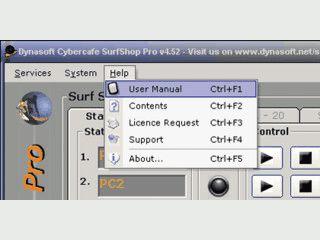 Software zur vollständigen Abwicklung eines Internetcafés