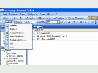 Add-On f�r MS Outlook zur Speicherung bzw. Archivierung von Emails.