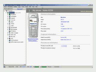 Sehr umfangreiche Software für die Arbeit mit Nokia Handys.
