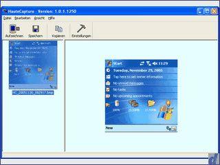 Screenshots von PDAs mit Microsoft Betriebssystem erstellen und speichern.