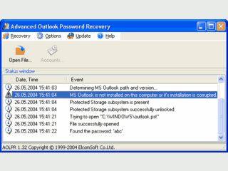 Passwortfinder für Outlook Dateien (*.pst), alle Versionen.