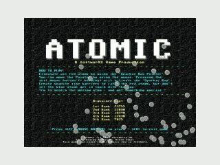 Schnelles Spiel. Klicken Sie alle roten Atome aber keine blauen Atome an.