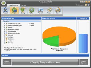 Windows Registry von ungültigen und fehlerhaften Einträgen befreien.