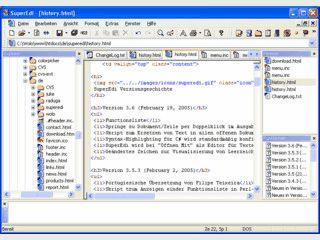 Unicode-Texteditor mit Syntaxhervorhebung und FTP-Client.