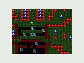 Sehr einfacher Boulder Dash Clone mit Leveleditor.