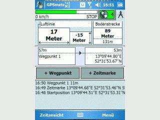 Längen- und Zeitmessung mit dem GPS Empfänger