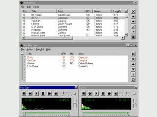 Spartanischer Player der Titel aus einer Playlist automatisch mixt.