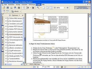 Adobe Reader zum Öffnen von PDF Dateien