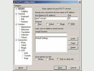 Terminal-Programm für SSH und Telnet mit konfigurierbaren Funktionstasten.