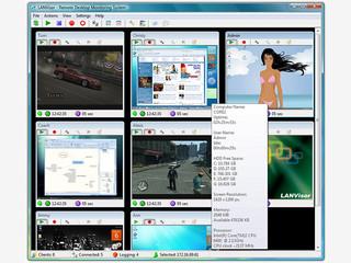 Remote Desktop Monitor im Stile von Überwachungskameras
