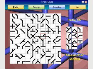 CrossLines erfordert viel Konzentration und kann die Formwahrnehmung trainieren.