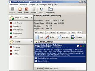 Projektorientiertes Zeiterfassungs-System für Mehrbenutzer-Umgebungen