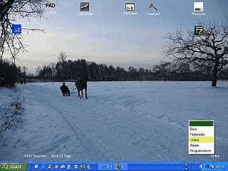 Virtuelle Desktops mit individuellen Verknüpfungen.