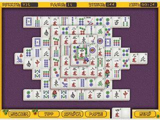 Mahjongg mit 8 verschiedenen Spielvarianten und Spielunterstütung.